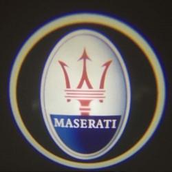 Module éclairage bas de portes logo led pour Maserati