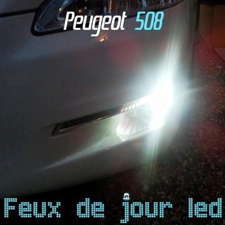Pack feux de jour diurnes led CREE 50W pour Peugeot 508