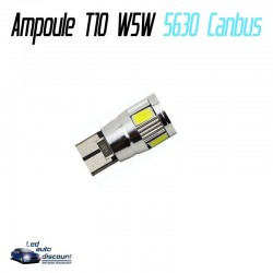 Ampoule led T10 W5W 6SMD 5630 CANBUS
