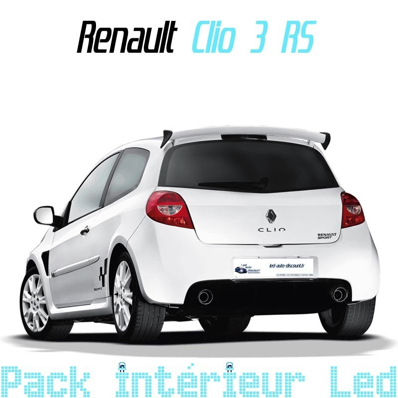 pack int rieur led pour renault clio 3 rs led auto discount. Black Bedroom Furniture Sets. Home Design Ideas
