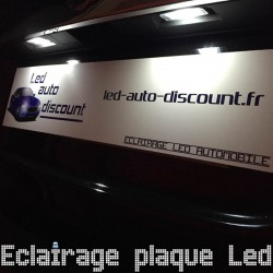 Pack éclairage de plaque led pour Renault Megane