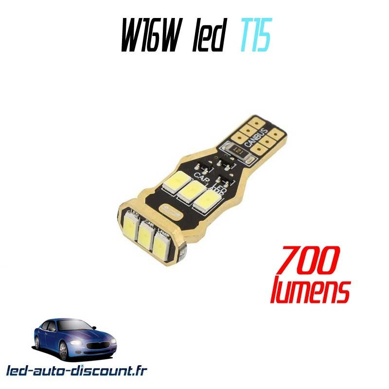 Ampoule LED W16W T15 15SMD 3535 - CANBUS - 800lm