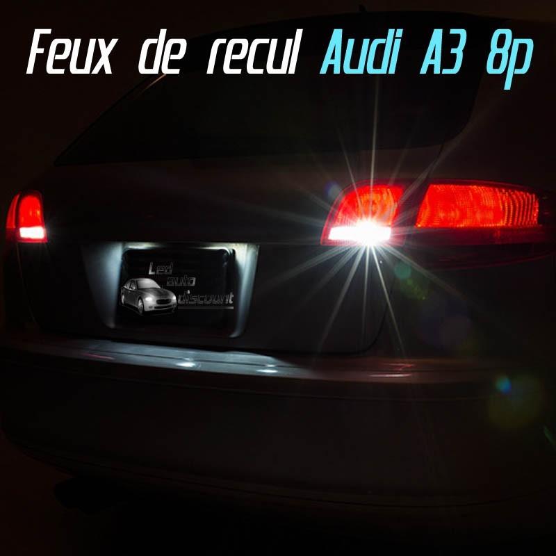 Pack Led Feux de Recul pour Audi A3 8P
