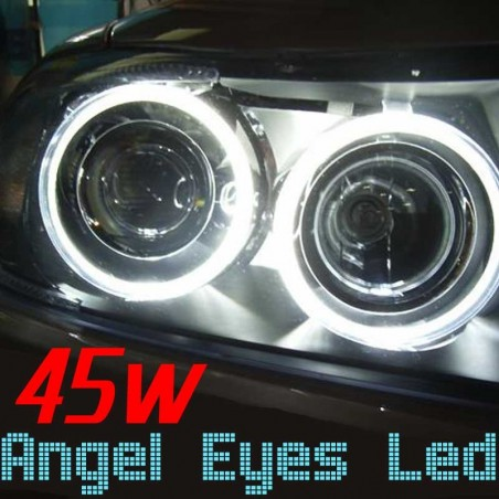 Pack Angel Eyes Led 45w Blanc Xenon BMW E39 E53 E60 E63 E65 E83
