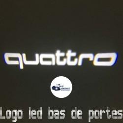 Module éclairage bas de portes logo led Quattro pour Audi