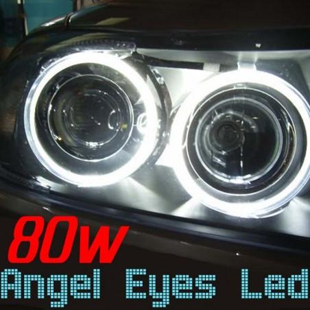 Pack Angel Eyes Led H8 80w BMW E60 E63 E64 E70 E71 E82 E94 E87 E90 E91 E92 E93