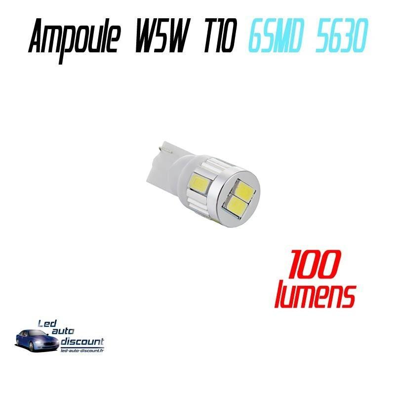 Ampoule led T10 W5W - (10SMD-5630) - Blanc Xenon