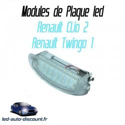 Pack module de plaque led pour Renault Clio 2 et twingo 1