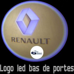 Modules éclairage bas de portes LOGO LED pour Renault