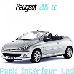 Pack intérieur led pour Peugeot 206 cc