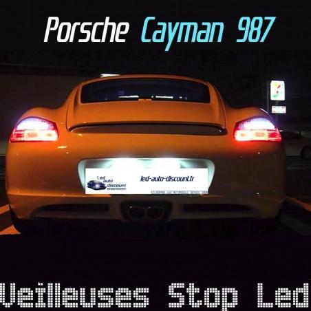 Pack ampoules feux stop et veilleuses arrière led pour Porsche Cayman 987 jusqu'à 2008
