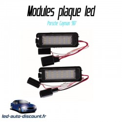 Pack modules de plaque led pour Porsche Cayman 987