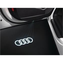 Module éclairage bas de portes logo led Audi Anneaux pour Audi