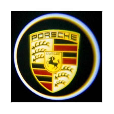 Module éclairage bas de portes logo led pour Porsche Boxster 981