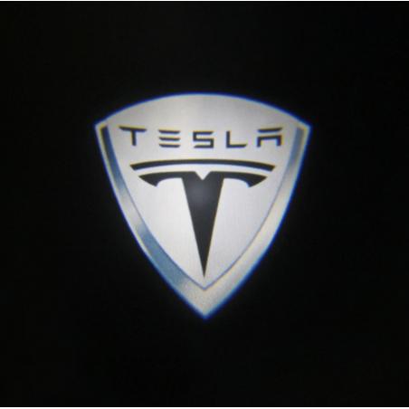 Module éclairage bas de portes logo led Tesla pour Tesla