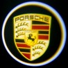 Module éclairage bas de portes logo led pour Porsche Macan