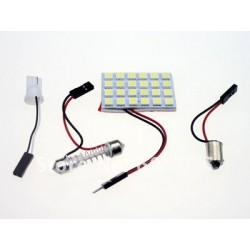 Pack 3 en 1 - Navette - ba9s - w5w - Plaque 24 led