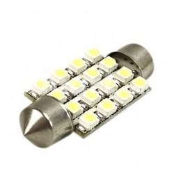 Ampoule navette Led (16SMD-3528)C5W 36mm, C7W 39mm, C10W 42mm