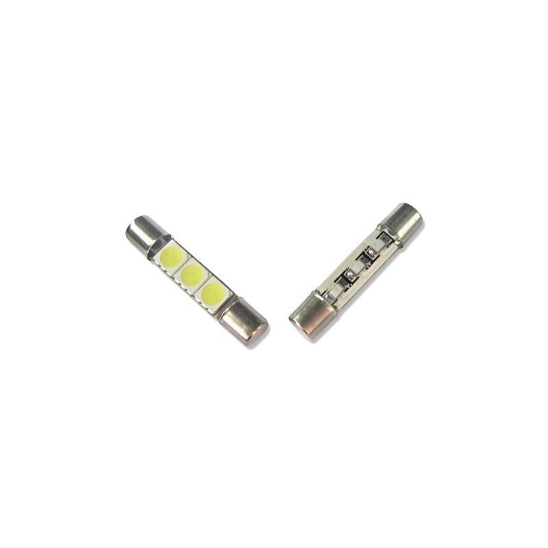 Ampoule Navette Led 3SMD 5050 - C3W 31 mm, C5W 36mm, C7W 39mm, C10W 42mm