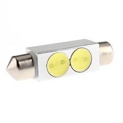 Ampoule navette Led HDLED 2W - C3W 31 mm, C5W 36mm, C7W 39mm, C10W 42mm