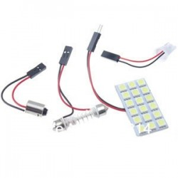 Pack 3 en 1 - Navette - ba9s - w5w - Plaque 18 led SMD