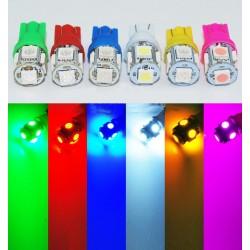 LED T10 W5W - (5SMD-5050) - Blanc Xenon