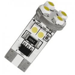 LED T10 W5W - (8SMD) 360° - Anti Erreur ODB - Blanc