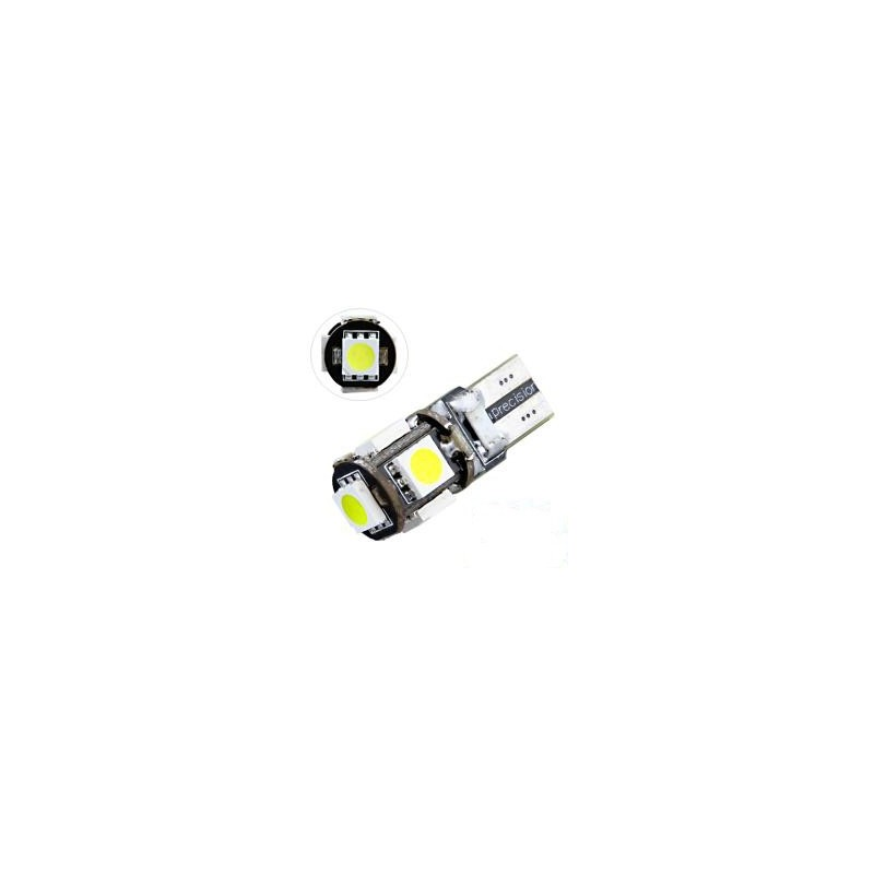 LED T10 W5W - (5SMD-5050) - Anti Erreur ODB - Blanc