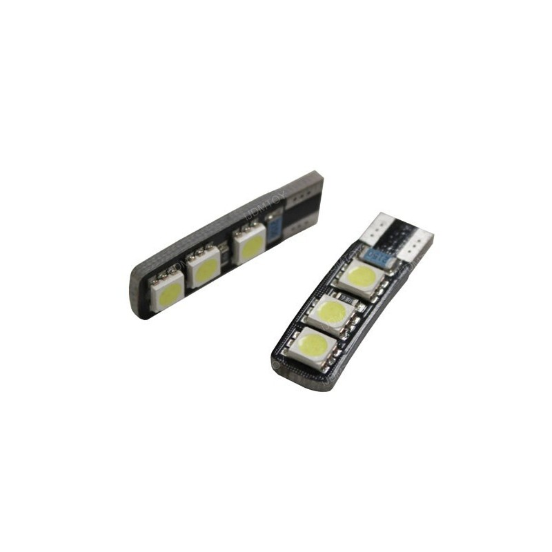 LED T10 W5W - (6SMD-2FACE) - Blanc