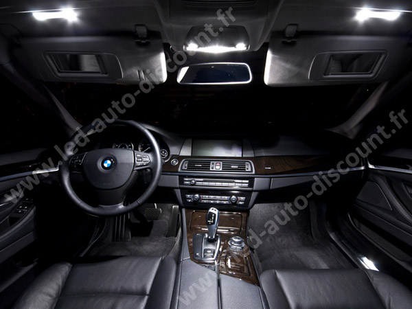 pack int rieur led luxe pour bmw s rie 5 f10 f11 led auto discount. Black Bedroom Furniture Sets. Home Design Ideas